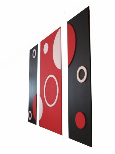 Cuadros minimalistas modernos con figuras en relieve - Cuadros con relieve modernos ...